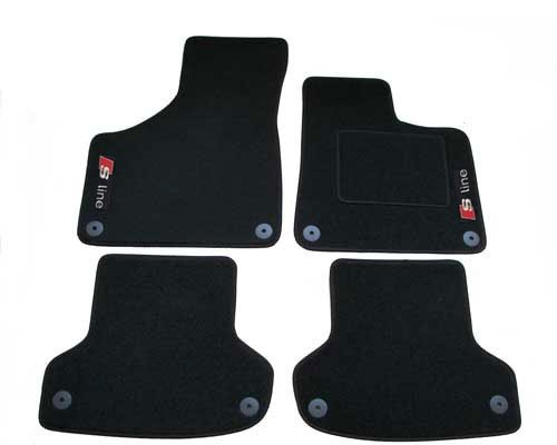 CITROEN DS4 2011 BLACK CARPET WITH GREY EDGING FULLY TAILORED CAR MATS