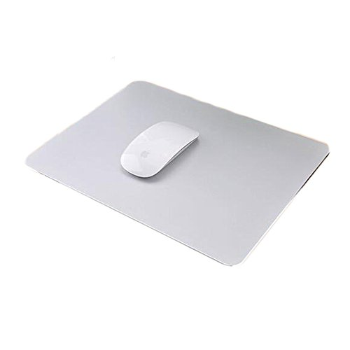 Delmkin Mauspad NEU Design Aluminium Mouse Pad Laptops Mouse Pad - 250*200mm (Silber-2)