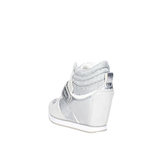 Calvin Klein Jeans Damen Viridiana Metallic Jacquard/Su High-Top Silber