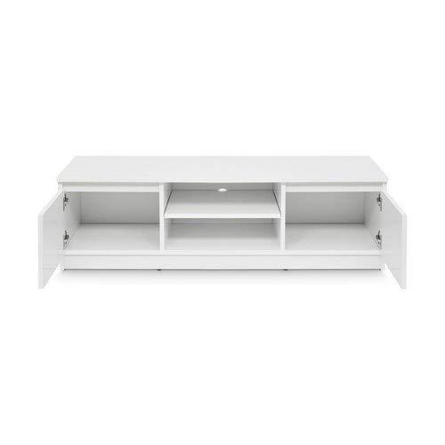 TV-Lowboard Board Schrank Fernsehtisch TV-Möbel (Weiß) - 5