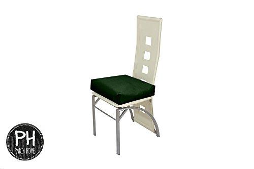 Patchhome Sitzkissen - Stuhlkissen - für das Wohnzimmer oder den Garten 50x50x7cm - Dunkelgrün in 25 Farben und 2 Größen (600 Denier Polyester-gewebe)