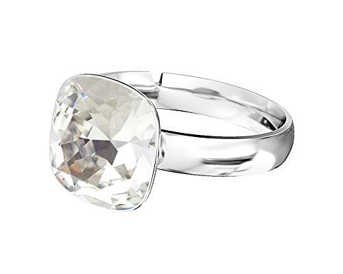 63f3388cc261 Crystals   Stones 925 plata anillo   Square     Varios Colores   Swarovski  Elements -