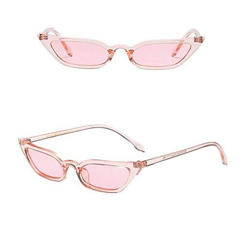 VRTUR 50er 60er Jahre Damen Retro Sonnenbrille Cat Eye Katzenaugen Rockabilly Modell FARBWAHL Brille(One size,Rosa)