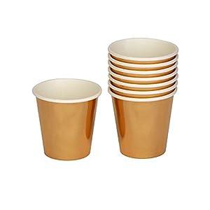 Neviti 776407 - Vaso de chupito (8 unidades, papel de aluminio, 5 x 5 x 5 cm), color dorado