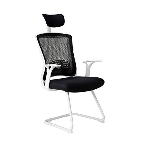 Möbel/Arbeitszimmer/Stühle & Sofas/Schreibt Computerstuhl Mesh Bogen Computerstuhl Bürostuhl Stuhl Esportsessel Spielhocker Modehaus Lernstuhl (Color : Weiß, Size : 124cm*50cm)