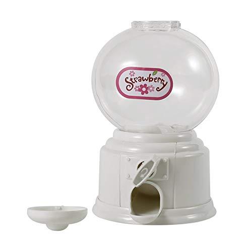 Candybush Máquina dispensadora de chicles, Mini máquina expendedora de Burbujas de Caramelo, Dispensador de Dulces Dulces con Dulces Divertidos - Blanco
