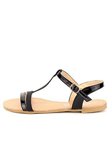 Materiale Cendriyon Nero Donna Bi Stabilisce Nera Scarpe Sandalo O4pq6wg