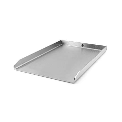 Grillrost.com Das Original Grillplatte/Plancha | Edelstahl | Massiv 40 x 30cm Universalgröße -