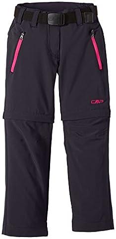 CMP Mädchen Hose Zip Off, antracite/scarlet, 164, 3T51445