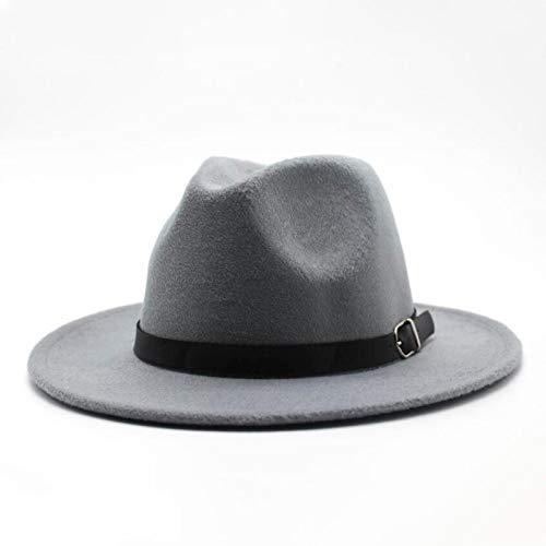 Alte Dame Mann Kostüm Reiten - DIDADU Winter HerbstFrauen Männer Damen Fedoras Jazz Hut Runde Kappen Bowler Hats