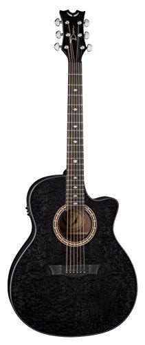 Dean Guitars E UQA TBK Ultra Quilt Ash Exotica-Chitarra elettroacustica, colore: nero
