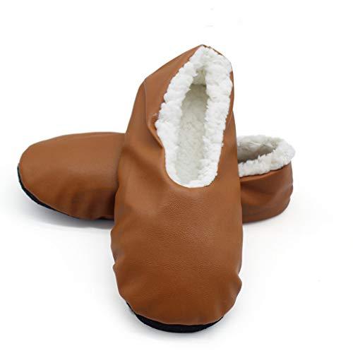 YU'TING ☀‿☀ Pantofole di Cotone Donna, Inverno Caldo Indoor Peluche Pantofole Casa Cotone Scarpe Stivali da Neve Donna Taglia Unica 38-41EU