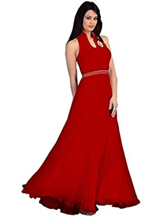 Khantil Latest New Long Red Party Wear Gown