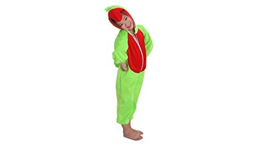Kinder Tierkostüme Jungen Mädchen Unisex Kostüm Outfit Cosplay Kinder Strampelanzug (Papagei, XL (Für Kinder von 120 bis 140 cm))