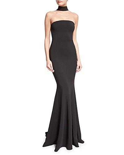 Damen Abendkleid Lang Ballkleid Party Fishtail Mermaid Kleid Halterneck Wickelkleid Cocktailkleid...