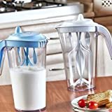 Sevia Plastic Portable Manual Fruit Juicer Jug For Butter Milk Lassi/Egg/Juicy Beater/Frother/Whisker/Milk/Coffee Maker Kitchen Tools Size: 26.5cm X 17.5cm X 9.5cm (Multi Color)