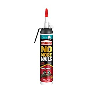 UniBond 1522438 No More Nails Original, Gun, Heavy Duty Mounting, Easy to Use Instant Grab Adhesive, Strong Glue for Wood, Ceramic, Metal etc, Pressurised Cartridge, 1 x 260 g, 260 g