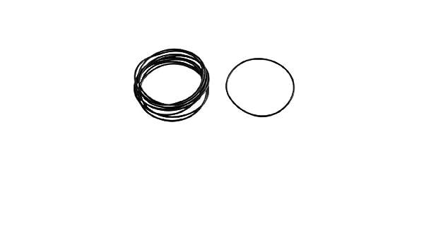 sourcing map 10 St/ücke schwarz Gummi O Ring /Öl Dichtung Dichtschiebe 53mm x 50mm x 1.5mm de DE de