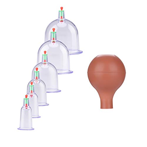 Vakuum-pack-maschine (Vakuum Schröpfen, Instrument für Health Care Vakuum-Therapie-Maschine 6 Stk)