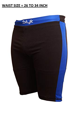 "SLYK Men Swimming Costume // Swimming Trunk // Swimming Jammer (Free Size - Waist 24 to 36"") (Jammer)"""
