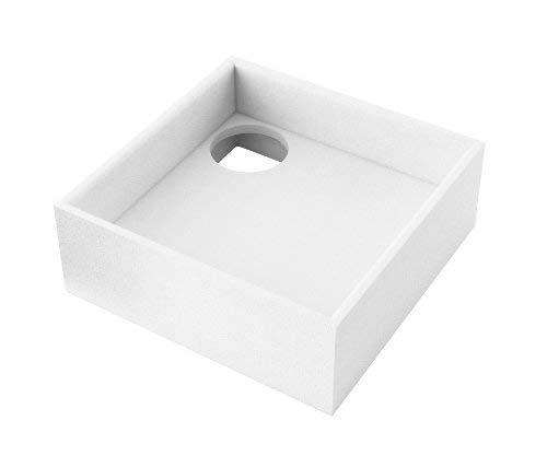 AQUABAD® Universal Duschwannenträger Styroporträger Wannenträger Duschwanne Quadratisch 80 x 80 x 17 cm