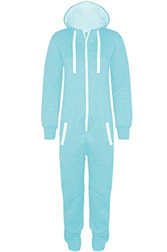Gracious-Girl-Stacy-Combinaison-Pyjama--capuche-mixte-pour-enfants-Zipp-Uni-ou--imprims-aztques-Gris-Gris-chin-9-10-Ans