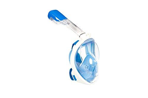 Lidaway Unterwasser-Tauchmaske Schnorchel-Set Vollgesichtsatmung Schnorchel-Maske mit Anti-Fog und Anti-Leck-Technologie passt für alle Swim-Neulinge und Taucher (Blau, S/M)