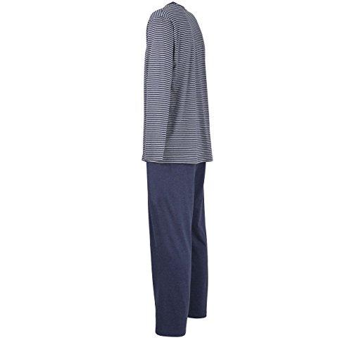 Ceceba Herren Zweiteiliger Schlafanzug Pyjama, V-Ausschn, Offen Melange-Garden