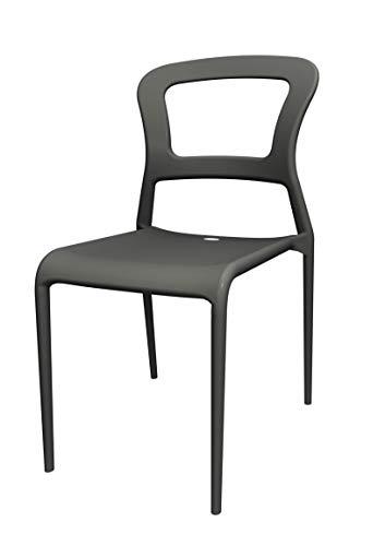 Scab Design Set 6 sedie Pepper Colore Antracite