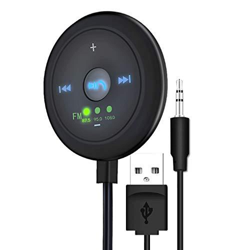 Gankmachine USB Charger AUX Bluetooth5.0 Kit Vivavoce per Auto Multi-Funzione di trasmettitore FM Ricevitore Auto Music Play