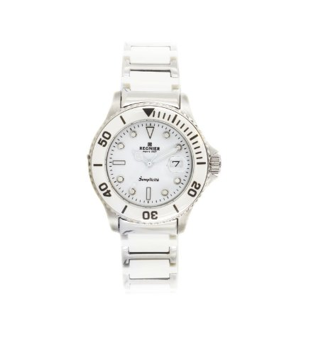 Régnier Semplicita R1310 Ladies Stainless Steel And White Ceramic Strap Watch 2080112