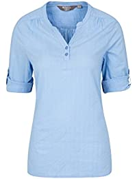 Mountain Warehouse Petra Womens Relaxed Fit 3/4 Sleeve Shirt - 100% Cotton Voile Ladies Summer Top, Lightweight, Breathable Blouse - for Spring Travelling & Daily Use
