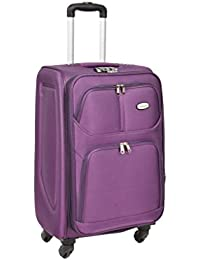 STRONG Luggage Suitcase Lightweight Expandable 4 Wheel Spinner Telescopic Handle Travel Trolley Bag PURPLE AC1