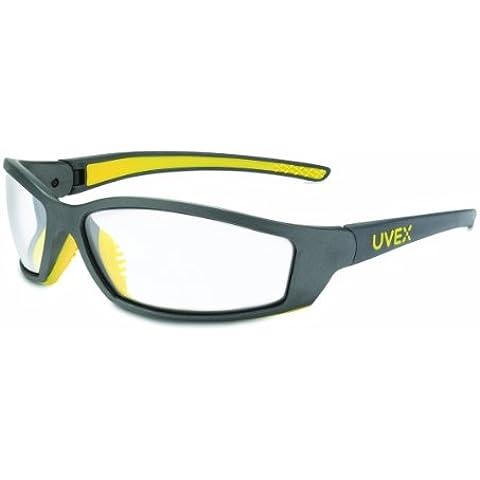 Uvex sx0400 x SolarPro Uvextreme Occhiali di sicurezza, lenti Anti-nebbia, colore: grigio, montatura gialla
