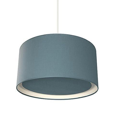 wesentlich–Pendelleuchte mit Diffusor blau Ø39cm–Suspension metropolight G80590durch