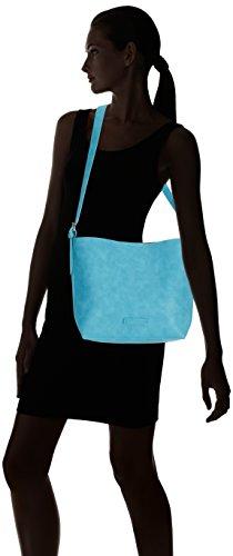 Tamaris RAINBOW 1332151 Damen Schultertaschen 36x28x11 cm (B x H x T) Blau (Turquoise)