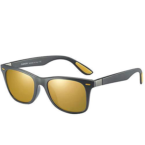 Skang Sport Sonnenbrille Unisex Verspiegelt Anti Reflexbeschichtung UV Schutz Übergröße Polarisierte Pilot Brille Sunglasses(Einheitsgröße,D)