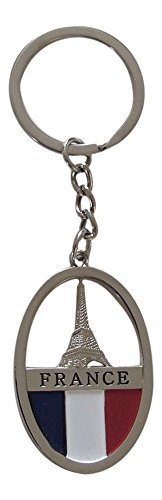 Porte-clés, bijou de sac Tour Eiffel, inscription France, Paris en métal.