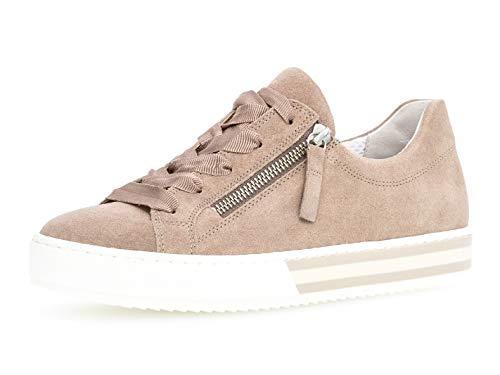 Gabor Damen Skater Sneaker 26.508.28, Frauen Sportschuh,Low-Top,Schnürer,Halbschuh,Plateau-Sohle,Rouge,41 EU / 7.5 UK