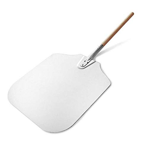 Hyiiw 1 Stücke 79 cm Aluminium Pizza Peel Schaufel Mit Holzgriff Käseschneider Backformen Kochgeschirr Werkzeuge Aluminium Pizza Peel