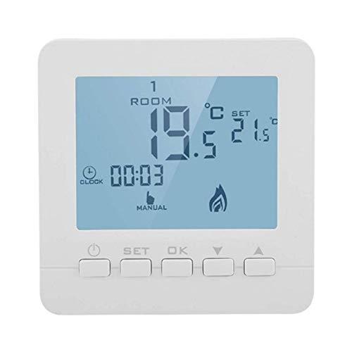 Turobayuusaku High Accuracy Weekly Programmable Boiler Thermostat With 0.5C Swing Temperature For Gas Boiler HY02B05BW-2