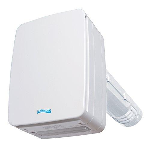 La Ventilazione V-ECO100PL Recuperatore di Calore a Doppio Flusso, 46 cm, Bianco