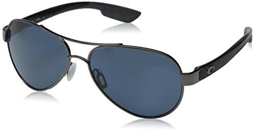 Costa Del Mar Costa Loreto Metal Frame Gray Plastic Lens Unisex Sunglasses LR22OGP