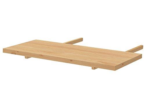 Loft24 Nikolai Ansteckplatte für Esstisch Tischplatte Tischerweiterung Esszimmertisch Küchentisch Kiefer massiv gebeizt geölt