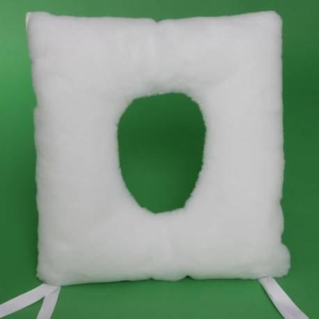 Cojín antiescaras cuadrado con agujero | 44x44x9 cm