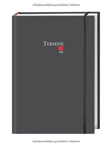 Preisvergleich Produktbild Tages-Kalenderbuch A6, classic schwarz 2016