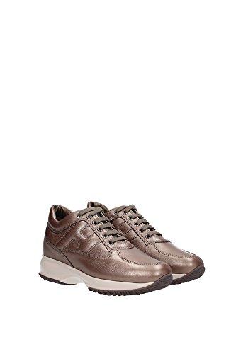 HXW00N000106RRC407 Hogan Sneakers Damen Leder Braun Braun