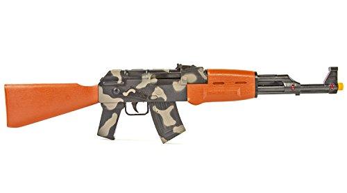 Kostüm Rambo Große - NICK and BEN Maschinen-Gewehr Kinder-Spielzeug Tarn-Farbe mit Licht & Sound Faschings-Waffe 62 cm