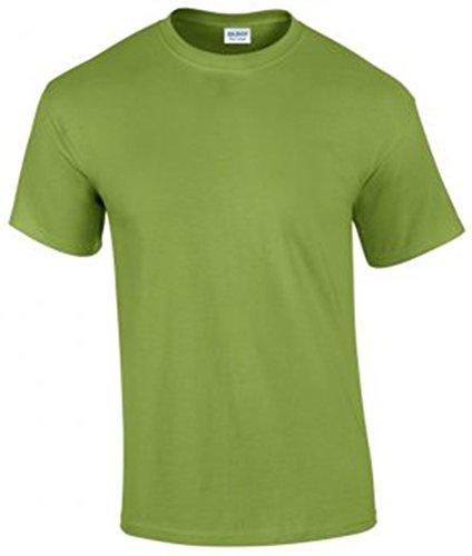 Gildan Herren Ultra Cotton T-Shirt Kurzärmlig Mehrfarbig - Kiwi
