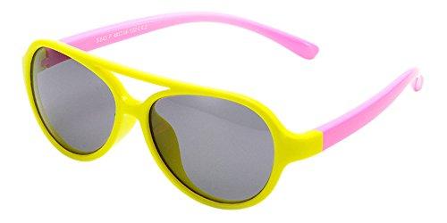 XFentech Unisex Kids Sports Polarized Aviator Style Sunglasses Boys & Girls Outdoor Rubber Flexible Frame Eyeglasses